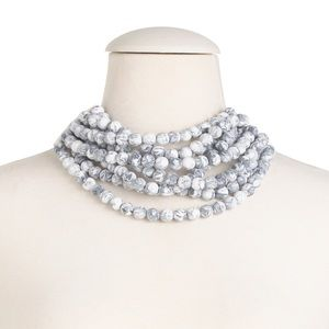 Fairchild Baldwin Bella Multi Strand Marble Collar